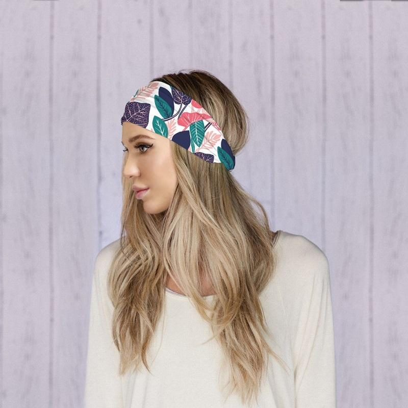 Butterfly Leopard Printed Yoga Headbands Outdoor Sport Hairband Fitness Headband Multifunctional Bandana Fashion Women Jewelry Accessories