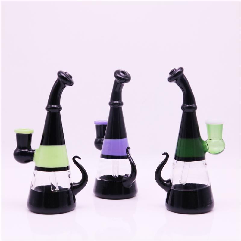 Mini Glass Bongs Heady Bong 6.5 Inch 14Mm Female Bongs Glass Ash Catcher Smoking Pipes Oil Rig Water Pipes