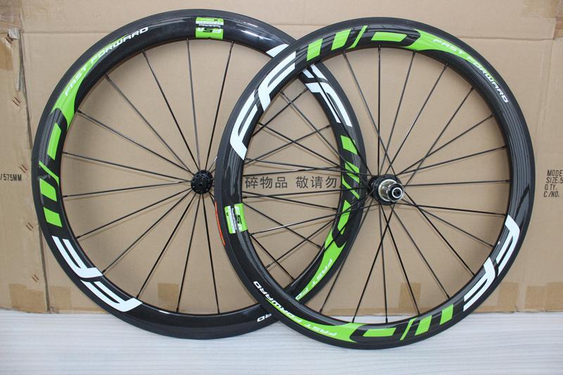 50MM 700C عجلات الكربون الأسود الأخضر الكربون دراجة عجلات الفاصلة الدراجة الطريق الكربون العجلات