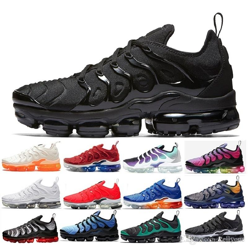 Compre Nike Air Max Vapormax TN Plus Olive Para Hombre Zapatillas  Deportivas Hombres Run Metallic White Silver Colorways Para Male Shoe Pack  Triple ...
