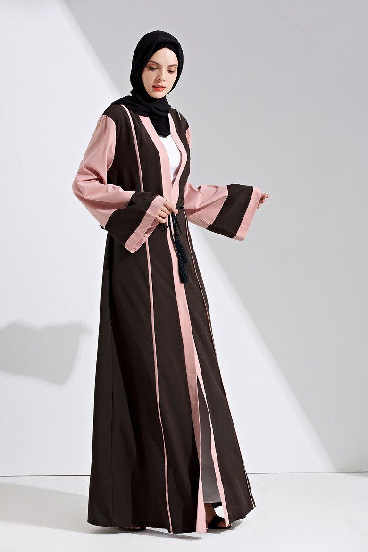 Factory Price Muslim Women Patchwork Abaya Dress S-2XL Islamic Women Plus Size Jilbab Abaya with Belt