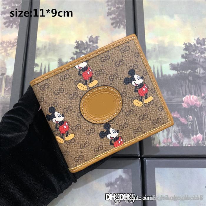Mulheres bolsa 2020 impressa lona premium, castanho claro contornos em couro, bolsa de cartão Compartimento com Zero carteira, com caixa original