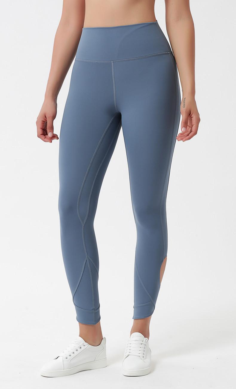 Nefes Hollow Yoga Pantolon Kadın Spor Spor Yüksek Bel Elastik Yoga Pantolon Sıcak Satış Üzengi crisscross