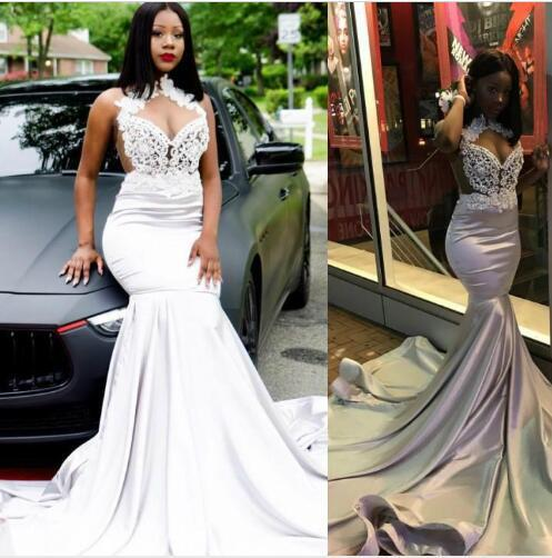 Mermaid Prom Dresses 2019 Lace Prom Gowns
