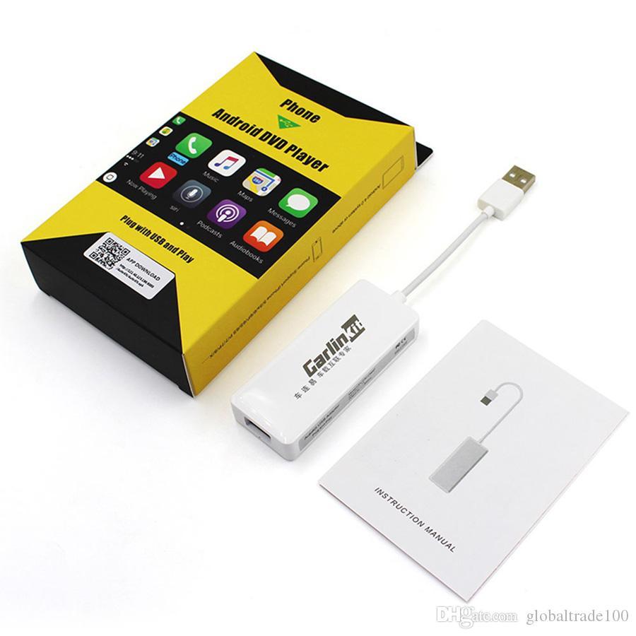 Android Auto Carplay Carlinkit USB Smart Link Apple CarPlay Dongle para iOS12 Carplay Soporte Android / MTK WinCE sistema Reproductor de navegación para automóvil