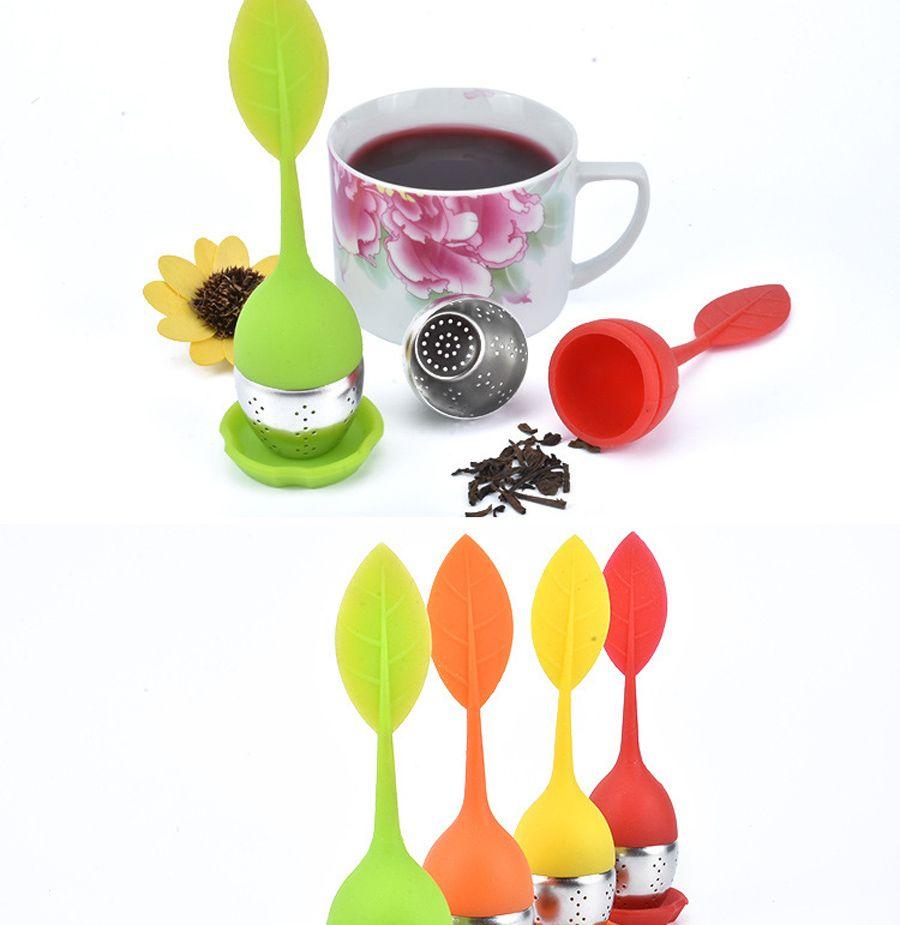 infusore tè palla all'ingrosso multi colori diffusore di tè sfuso infusore filtro in silicone diffusore di erbe spezie diffusore