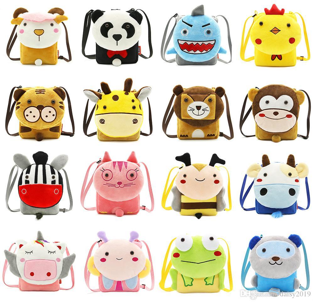 Niñas Mini bolsa de mensajero Bolsos para niños Bolsos de hombro para niños Chicas lindas Felpa Dibujos animados Niños Bebé Monederos pequeños Monedero Crossbody