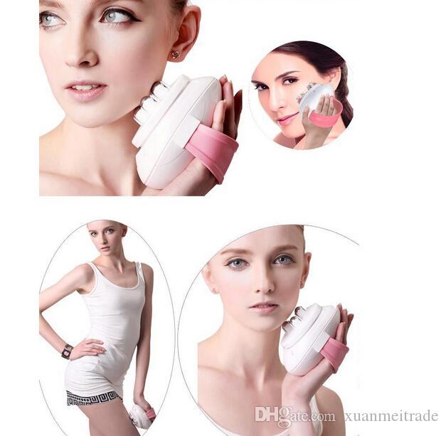 mini portatile corpo rilassarsi dimagrante massaggio 6 rullo controllo Rullo elettrico facciale modellamento Massaggiatore Mian corpo sottile
