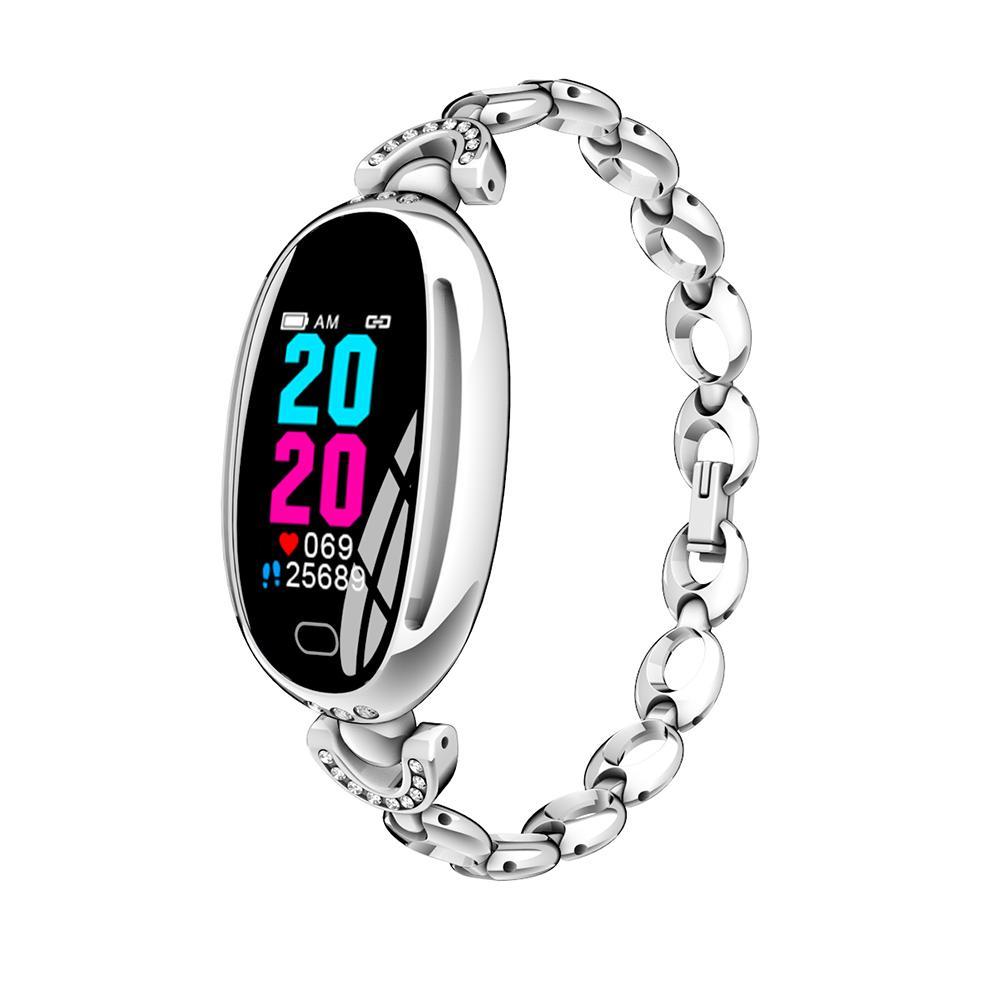 E68 سيدة الذكية معصمه للماء المرأة سوار الرياضة اللياقة تعقب القلب معدل ضربات الدم ارتفاع ضغط الإناث