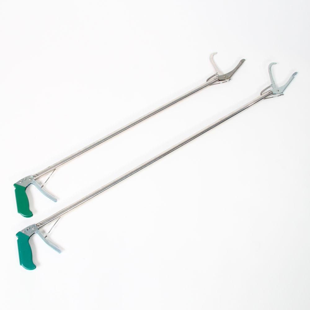 100CM الآمن الأفعى الماسك للالزواحف لوازم سبائك الألومنيوم والأفعى المشبك مع قفل الذاتي وظيفة الفضة الخضراء