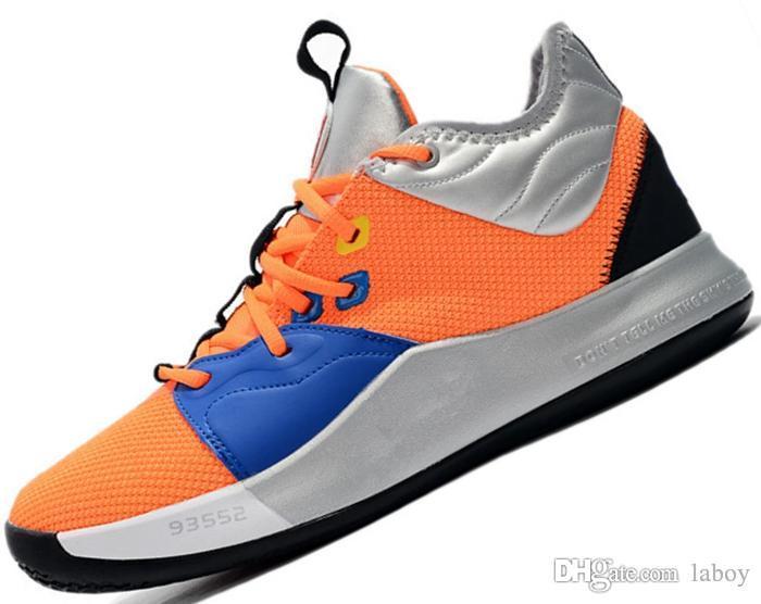 A buon mercato NASA PG 3 3s PALMDALE III Paul George Men pg3 Blu Arancione Rosso Nero Metallizzato Argento Scarpe da basket Uomo Sneakers Scarpe da ginnastica Chaussures