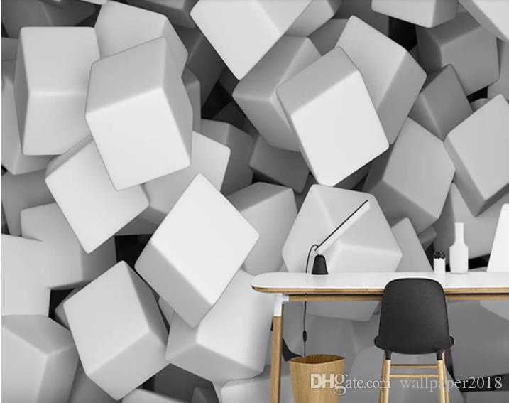 사용자 정의 3D 스테레오 5d 단색 공간 시멘트 벽 사진 벽지 배경 화면 벽화 그림 벽화 TV 벽화
