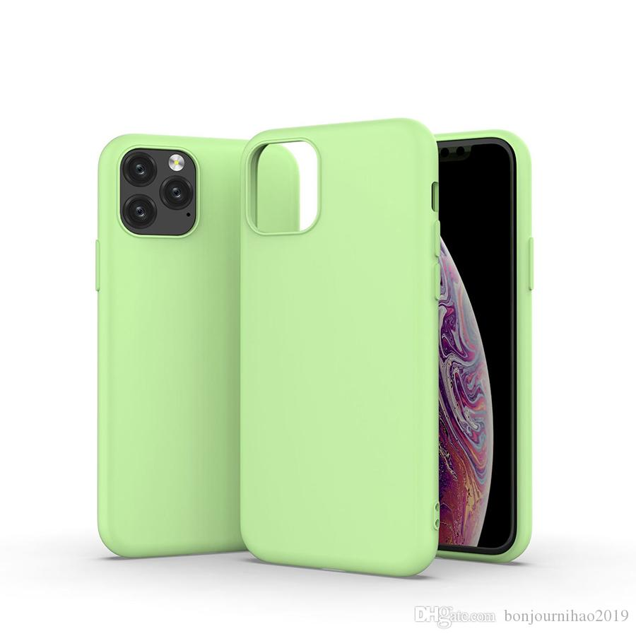 Ultra Slim Lightweight Liquid Silicone TPU Case Full Body Protective Bumper Back Cover Super Microfiber Lining for iPhone and Samsung Galaxy