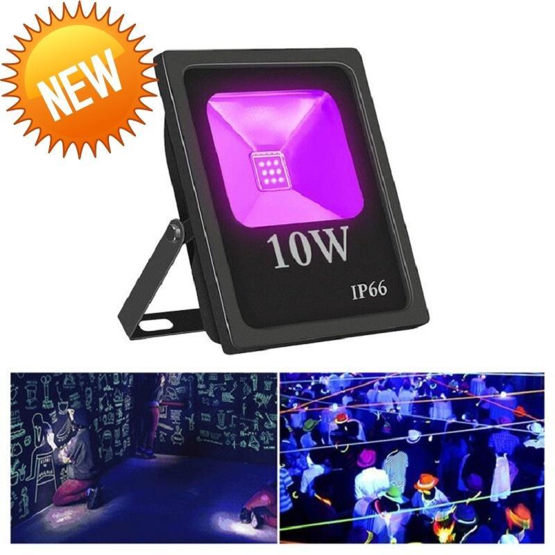 10pc Uv proiettore principale 10 w acqua dwaterproof ultra violetta Flusso fluorescente stadio ad alta potenza lampadina a bar party party Halloween