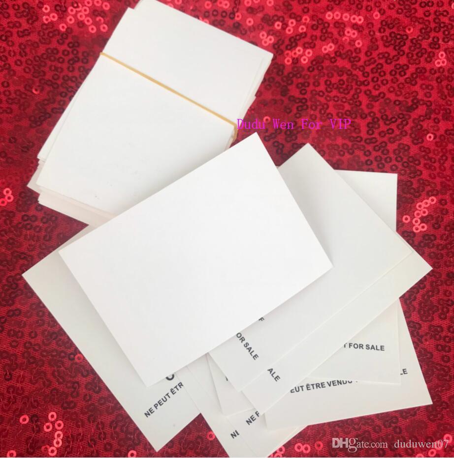 헤어 넥타이 브로치 종이 카드 귀빈 파티 선물 소송에 대한 100PCS / 많은 참조 카드