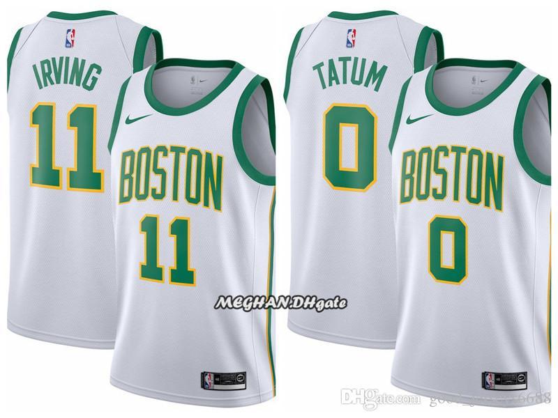 new style 41c3a 51d94 2018 Newest 2019 Men Boston Celtics Basketball Jersey 0 Jayson Tatum 11  Kyrie Irving Stitched Basketball Jerseys White From Deem001, &Price; | ...