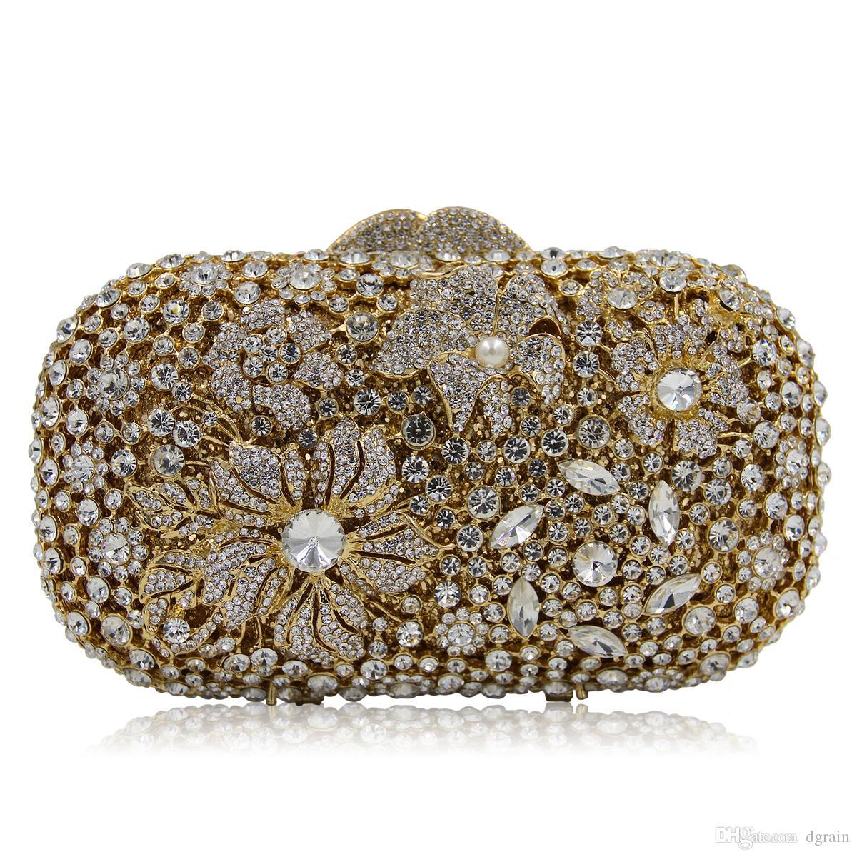 Dgrain Dazzling Kristall-Frauen-Abend-Handtasche-Box Handtaschen Diamant-Cocktail Hochzeit Kupplungen Braut Diamant-Geldbeutel Dinnder Handtasche Geldbeutel