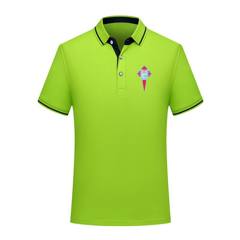Celta de Vigo de manga corta camisa de los hombres jers de formación de fútbol de la solapa del polo de polo del algodón de la moda de verano de fútbol de polo de la camisa de los hombres versión tailandesa de calidad