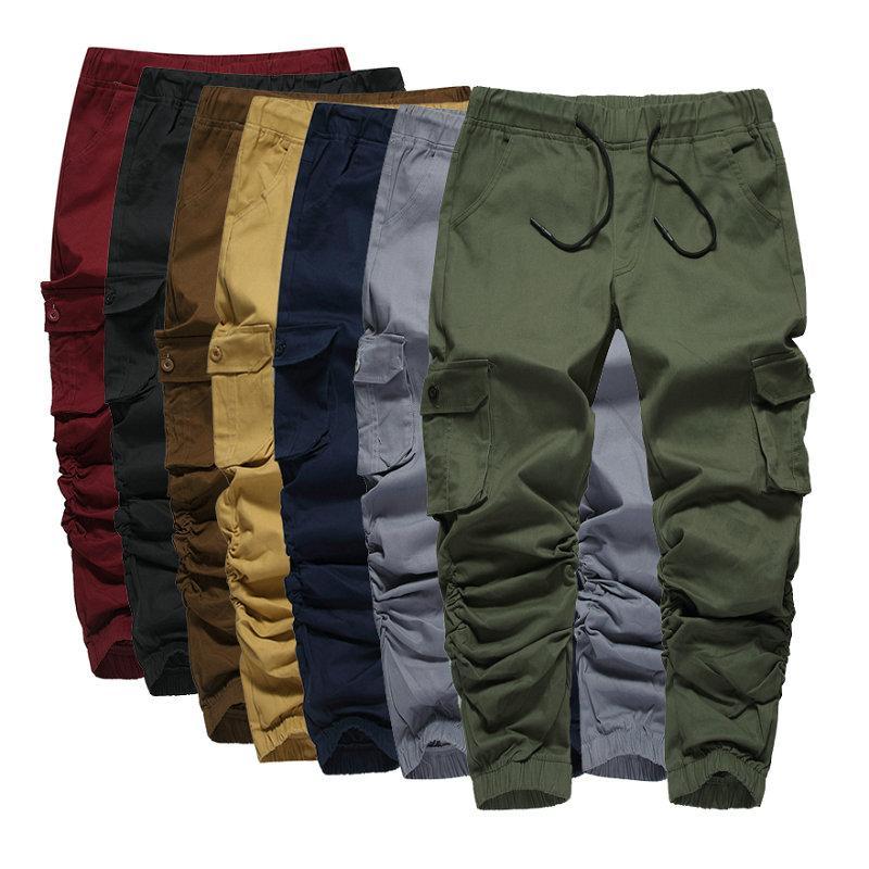 VOLGINS Marca Hip Hop Sweatpants Jogger calça casual homens de Slim Elastic Harem calças dos homens Streetwear Calças masculinas