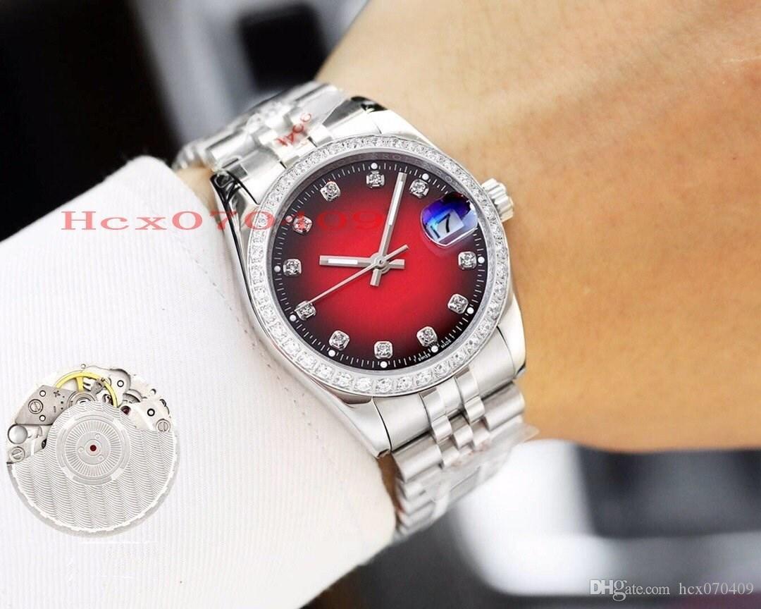 Top classica di vendita di alta qualità 36 millimetri Presidente Datejust in acciaio 316L Diamond Bezel Cal.8215 Movimento automatico unisex Watch Mens