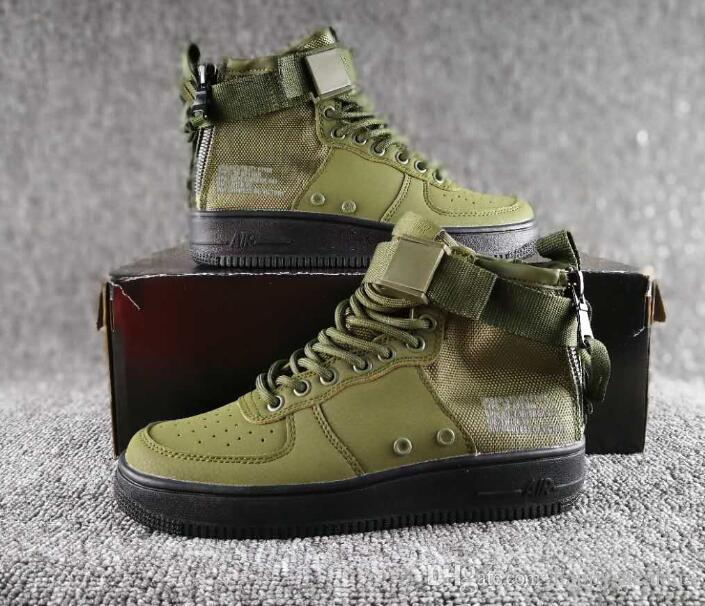2db78f188 2019 Special Field Airs Mid Forces SF 1 MID Sports Shoes Camo QS Military  Boots High Top Sneakers White Black Green Wheat From Happysneakers, ...