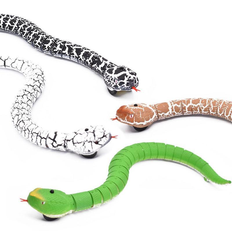 """11 /""""Realistische Fernbedienung RC Snake Toy Grüne Klapperschlange"""