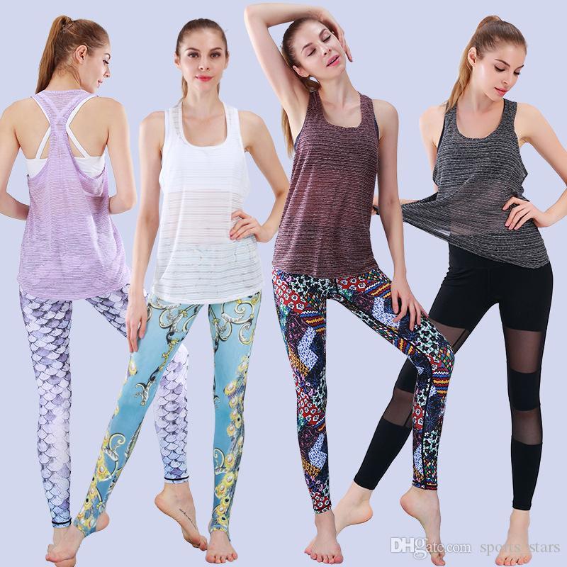 Fitness Débardeurs Sexy Femmes Sport T-shirt Workout Vest Exercice Vêtements Running Jogging Gym Livraison Gratuite En Gros-Professionnel