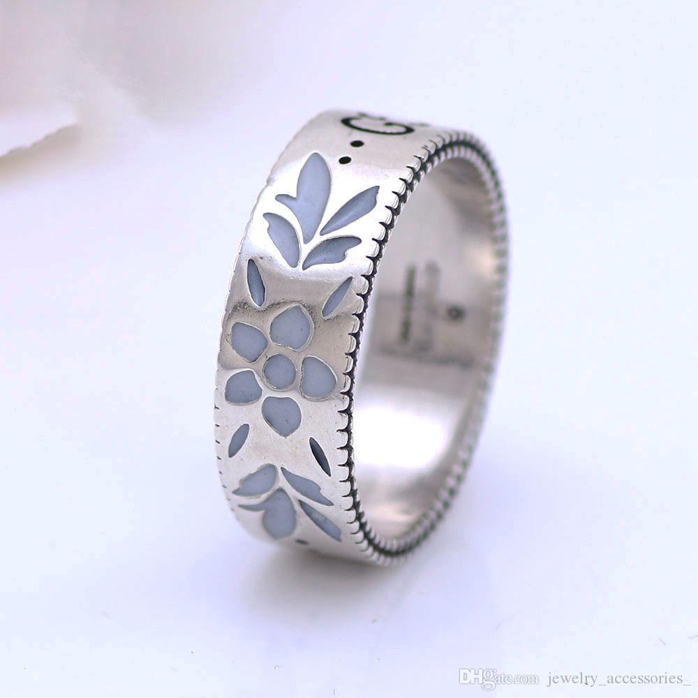 Frauen 100% Pure Sterling Silber-Ring-Frau Männer altes Silber Schmuck