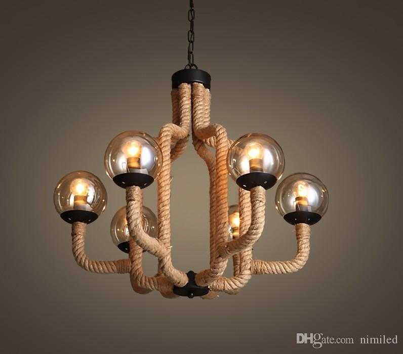 Modern Led Chandelier Living Room Lighting Rope Fixtures