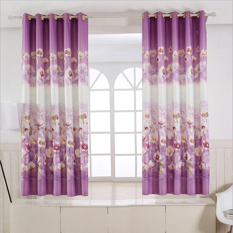 Pastoral Rustik tarzı Çiçek perdeler kısa mutfak Pencere Dekorasyon Takoz Çocuk Odası Perdeleri Baskılı Tek paneli