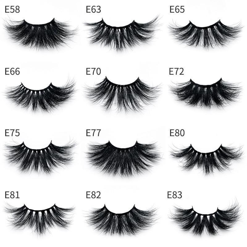 NEW 3D Mink Eyelashes Hot 25mm False Eyelashes Natural Soft Eyelash  Extension Big Dramatic Mink Lashes Eye Makeup ...