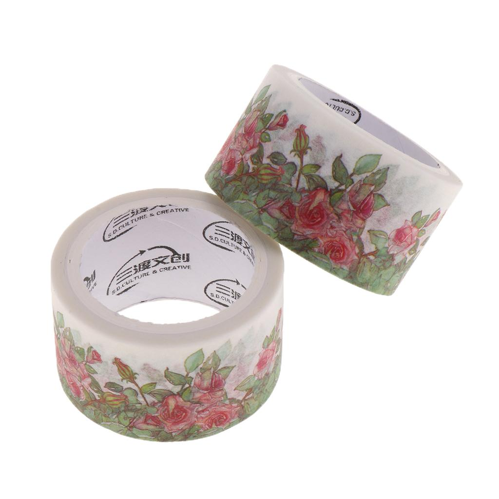 Set of 2 Rolls Washi Tape,Decorative Masking Adhesive Tape for DIY Crafts and Gift Wrapping,School Supplies