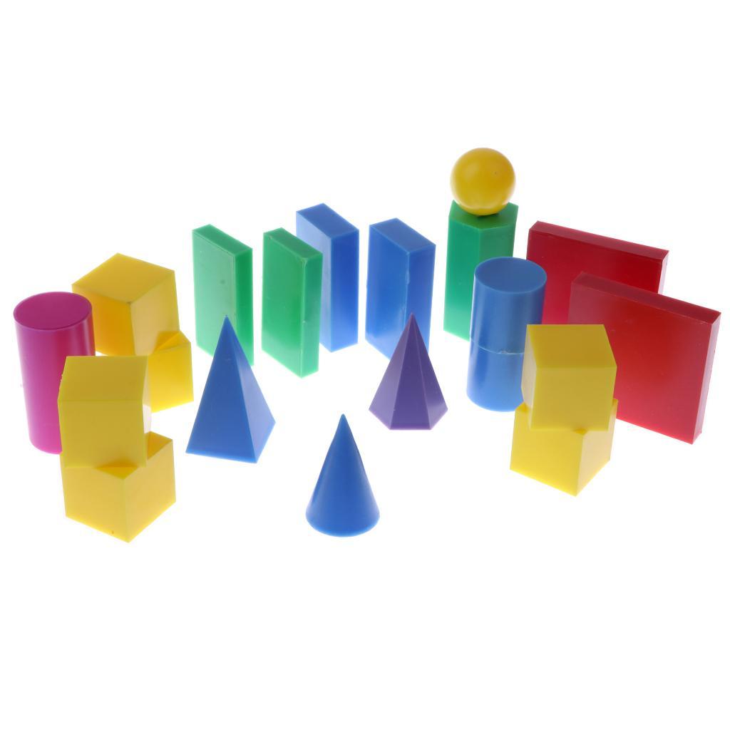 Пластмассовые геометрические тела геометрия 3D блок игрушки математика математика игрушки 20pcs