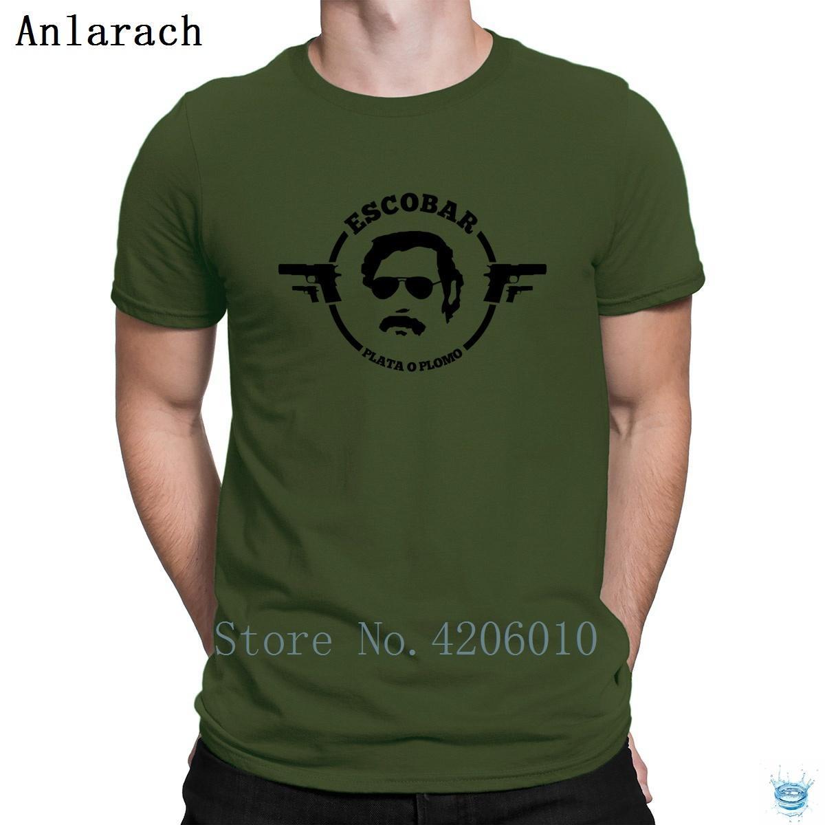 Pablo Escobar Plata O Plomo Magliette Umoristico Carattere Umoristico Nuovo stile T-shirt manica corta per uomo Primavera Autunno Tops Crazy Anlarach