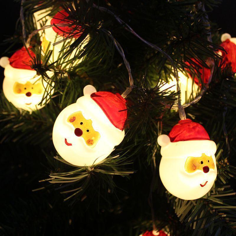 Weihnachtsweihnachtsmann-Schnur-Licht mit 10 LED-Lampen für die Innen- und Außendekoration 0.5W White Light