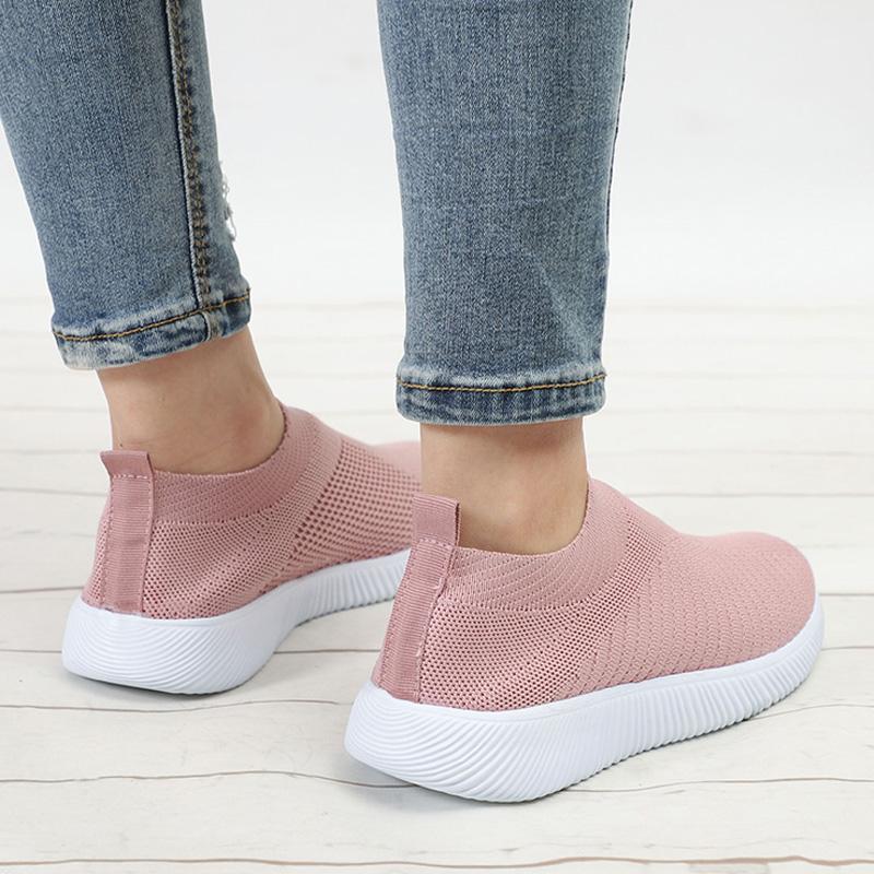 Bahar Kadınlar Flats Rahatlık Kadın Çorap Ayakkabı Nefes Bayan Ayakkabıları Kadın loafer'lar Espadrilles Casual Kadın Ayakkabı