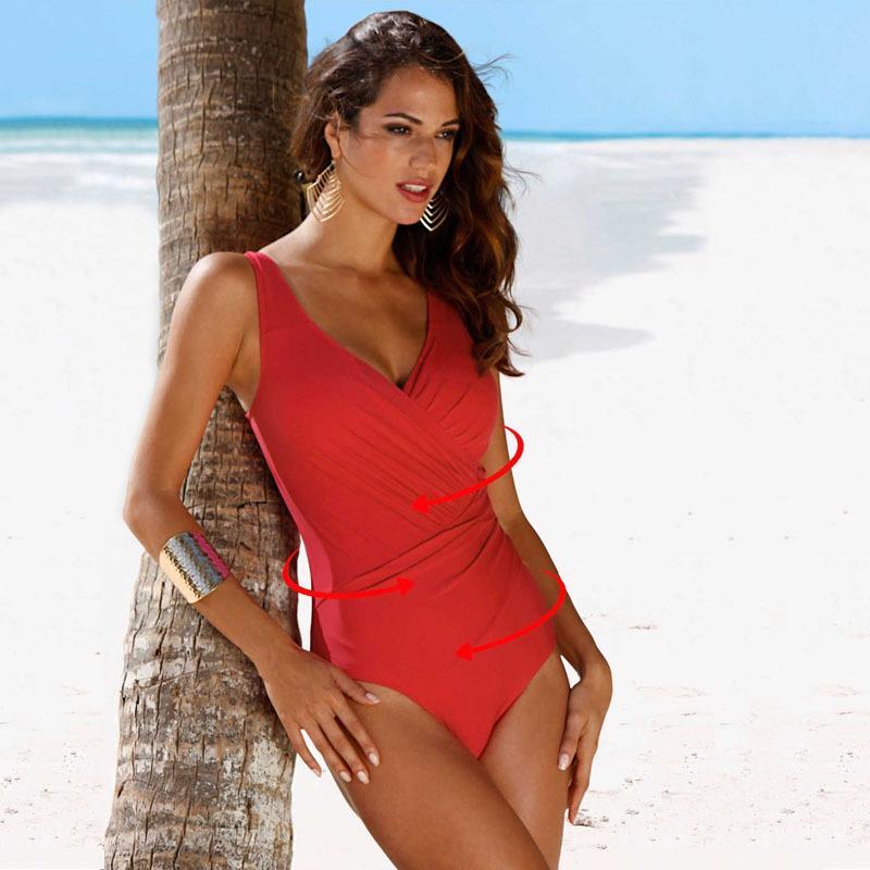 Сексуальные купальники женщины 2019 новый цельный костюм купальник плюс размер бразильские купальники женский принт купальник пляжная одежда для купания 4XL
