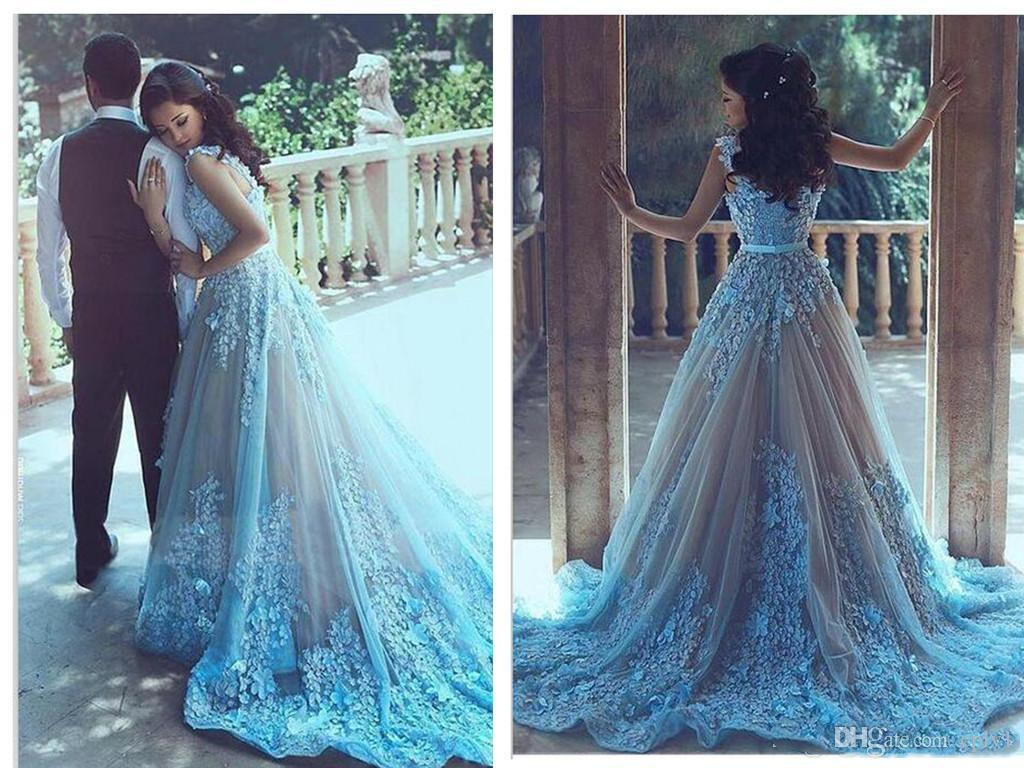 A Line Tulle Lace Applique Zuhair Murad Vintage Luxury Wedding Guest Dress With Beads 2019 New Arrival Red Carpet Celebrity Dresses H092