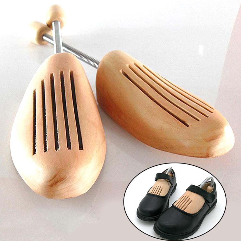 1pair Sólidos Wooden Shoe Maca Shaped ajustável fixo Árvore da sapata de alta qualidade New Shoe Expander sem distorção Hot Sale