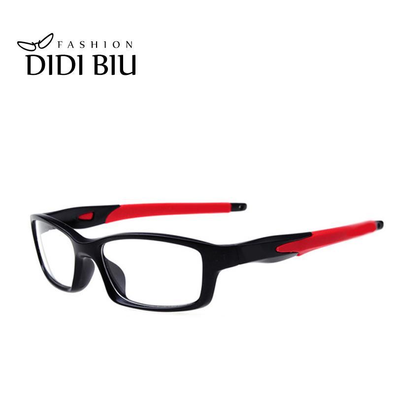 DIDI-TR90 por mayor Titanium de la lente anti-explosión casual Vidrios del rectángulo silícico los vidrios del ojo Miopía Eyewear óptico U528 Marco
