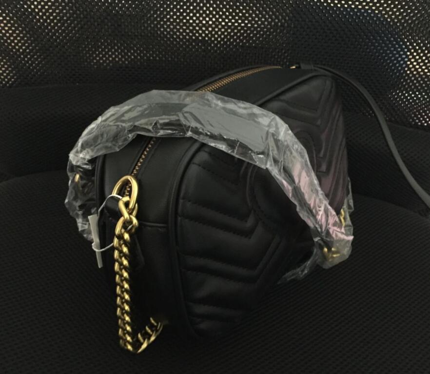 Donne calde borse a tracolla di alta qualità donne catena d'oro crossbody borse borse famoso designer borsa femminile messaggio sacchetto croce corpo borse 8557