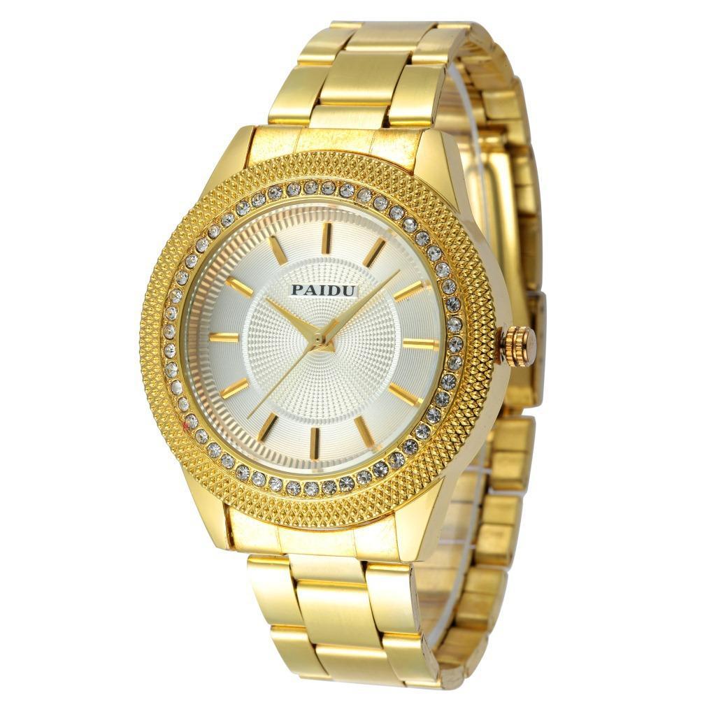 Paidu Paidu мода новые горячие продажи бар ногтей масштаб алмазные часы кольцо бизнес кварцевые стальной браслет часы 58931