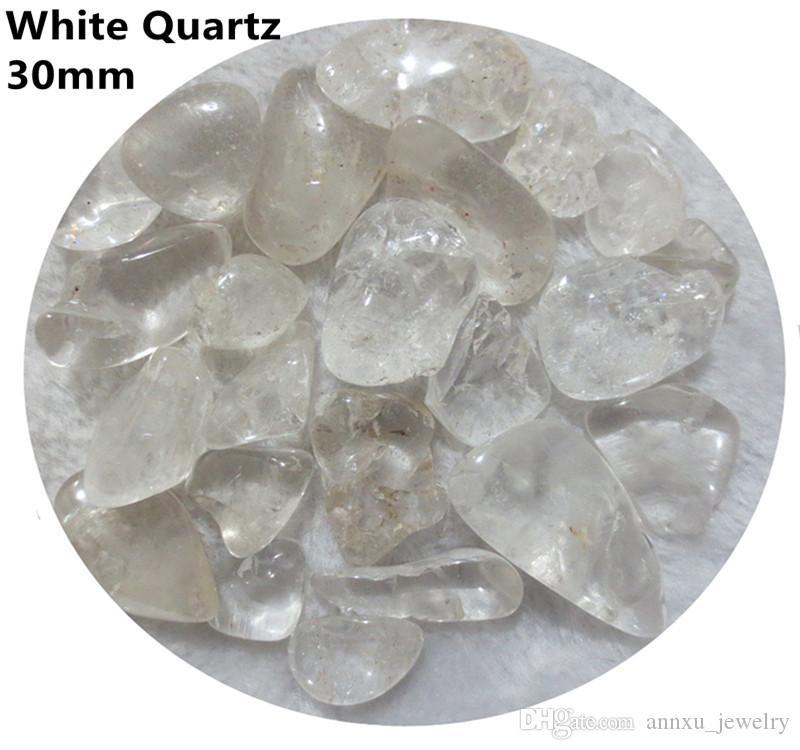 C01 20~40mm Brazil White Crystal Natural Stone Chips Gravels Block Quartz Aquarium