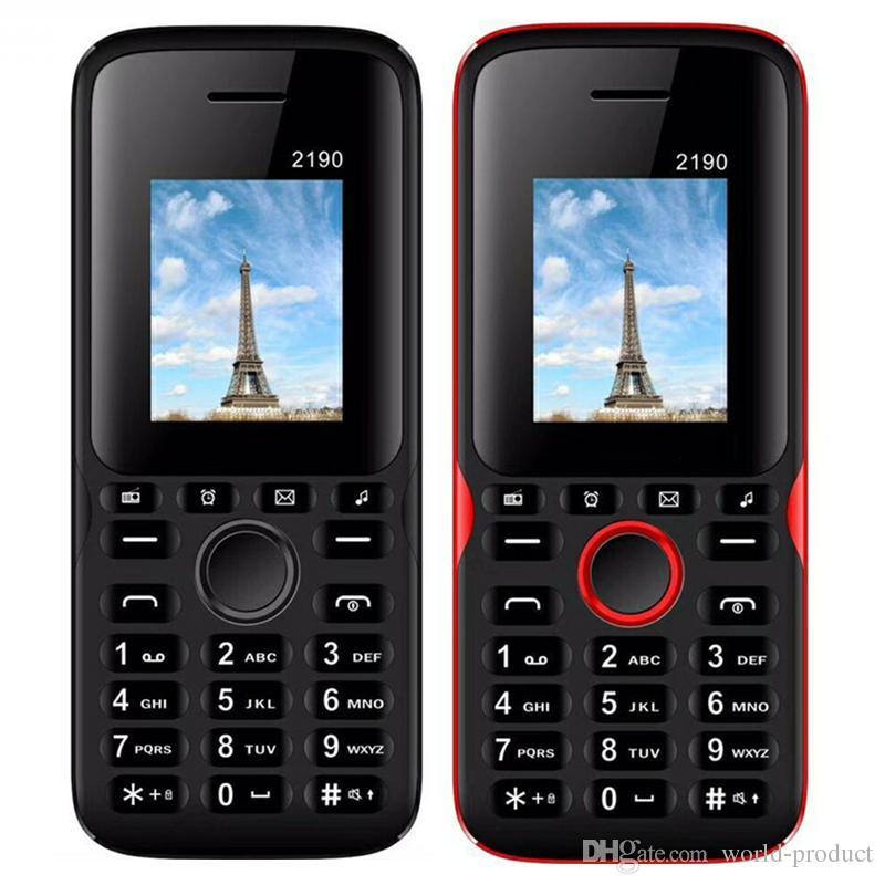 Unlocked Mobile phone 2190 1.77inch QCIF Screen Dual sim card Classic GSM Cheap Cellphone 2.0 bluetooth keyboard button phone