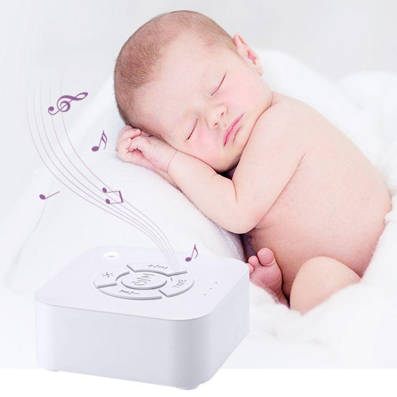 Bebek Yetişkin Ofisi Seyahat için Uyku Relaxation İçin Beyaz Gürültü Makinası USB Şarj edilebilir Zamanlı Kapatma Uyku Ses Makinesi