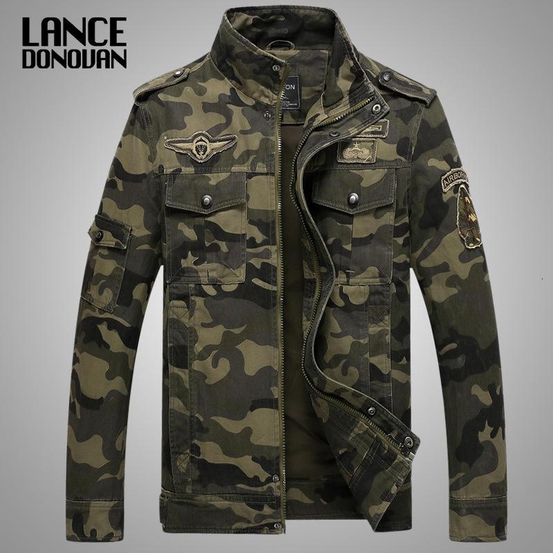 New 2019 Army Military Jacket Men Tactical Tarnung beiläufige Art und Weise Bomberjacken plus Größe M-XXXL 4XL T191102