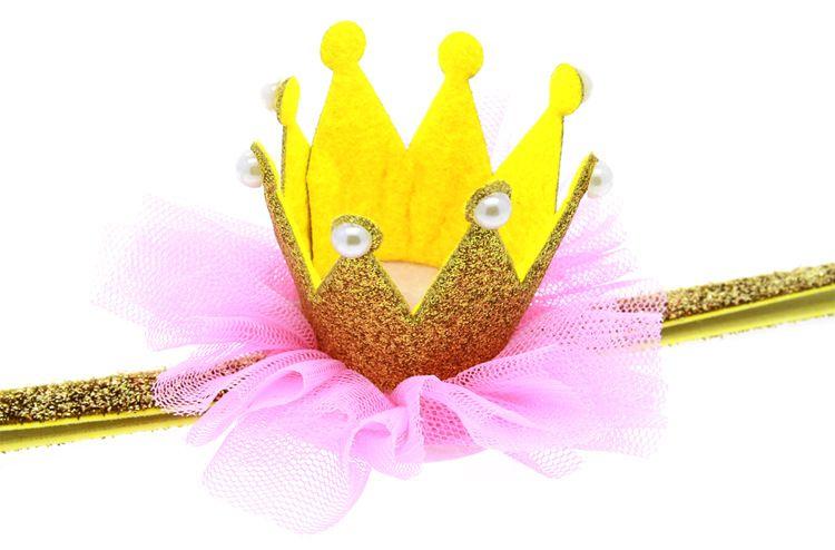 Hot Baby Headbands Flower Crown Headbands For Girls Kids Lace Headwrap Children Party Hair Accessories Birthday Gift