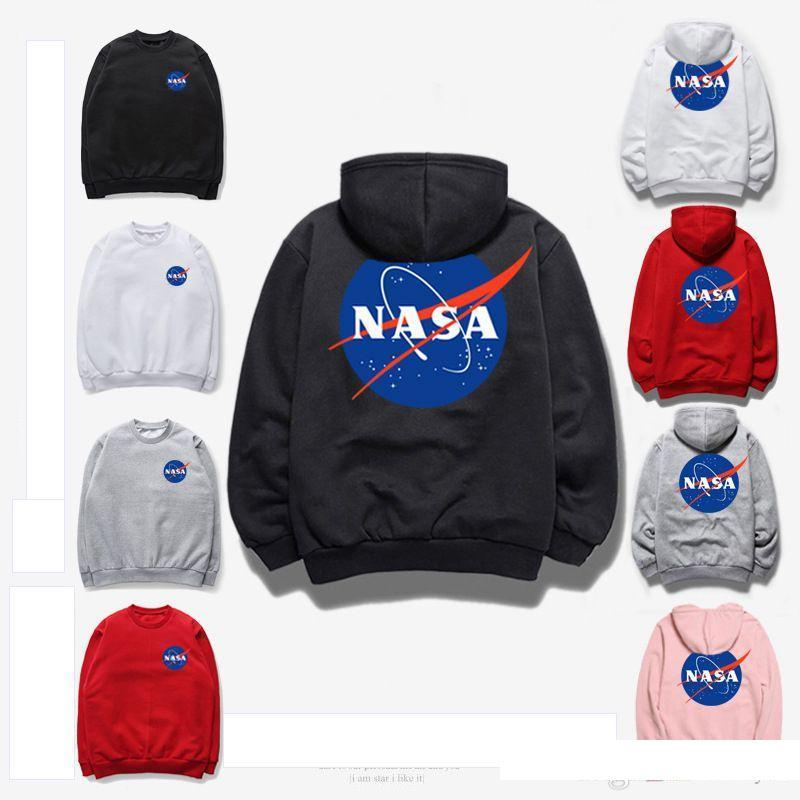 Men Sweatshirts Hooded Coat Jacket Tops Sweater Hoodies Outwear NASA Pullover