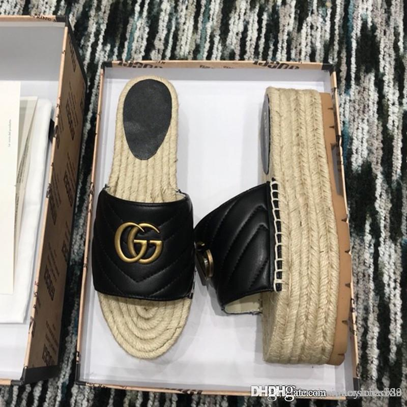 Weisefrauensandelholze Espadrilles Frauen Schuhe Damen flache Schuhe Superstars Plateau-Sandalen mit Kasten