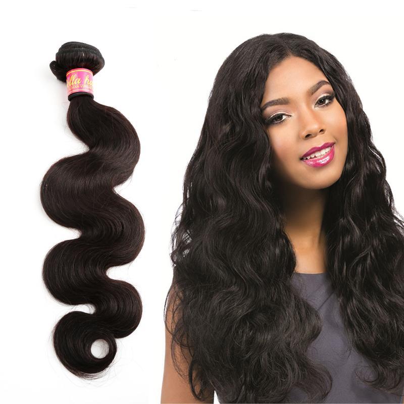 Bella Hair® Wysokiej Jakości Dwymiarowy Brazylijski Rozszerzenia Włosów 1 Pakiet Body Wave Wiązki Włosów 1 pc Podwójne Wątki Ludzkie Włosy